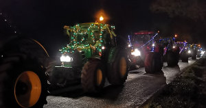 Christmas tractors